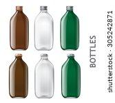 set of transparent bottles.... | Shutterstock .eps vector #305242871