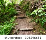 Tourist Path With Stairs  In...
