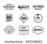 set of vintage sale and... | Shutterstock .eps vector #305248001