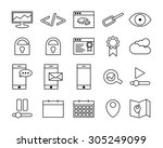 seo icon set   outline icons | Shutterstock .eps vector #305249099