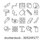 graphic design icon set  ...   Shutterstock .eps vector #305249177