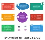 quote text set flat colored... | Shutterstock .eps vector #305251739