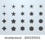 set of stars icons. simple... | Shutterstock . vector #305255531