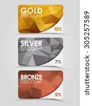 a set of discount cards with... | Shutterstock .eps vector #305257589