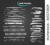 set of vector grungy chalk art... | Shutterstock .eps vector #305272829