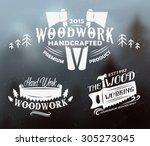 woodwork retro vintage emblem....   Shutterstock .eps vector #305273045