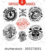 vintage badges logo set.... | Shutterstock .eps vector #305273051