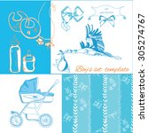 New Baby Items Set Isolated On...