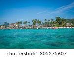 phi phi island in andaman sea ... | Shutterstock . vector #305275607