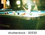 people plaing pool - stock photo