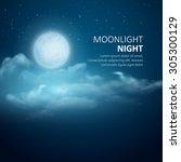 Night Vector Background  Moon ...