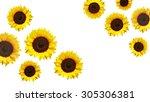 Yellow Sunflowers And White...