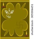 goddess durga | Shutterstock .eps vector #305306651