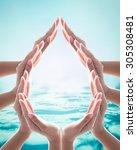 world water day  saving bio... | Shutterstock . vector #305308481