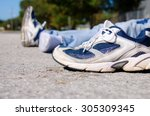 closeup of the shoe from a... | Shutterstock . vector #305309345