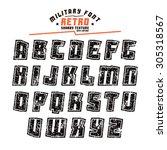 sanserif geometric font in... | Shutterstock .eps vector #305318567