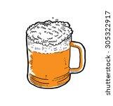sketchy beer mug | Shutterstock .eps vector #305322917