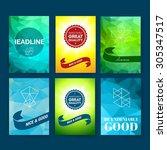 template. set of poster  flyer  ... | Shutterstock .eps vector #305347517