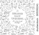illustration  back to school... | Shutterstock . vector #305350241