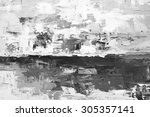 oil paint texture. grunge black ...   Shutterstock . vector #305357141