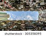 old apartment in hong kong | Shutterstock . vector #305358395