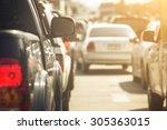 traffic jams in the city   rush ... | Shutterstock . vector #305363015