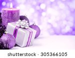 Purple And Silver Christmas...