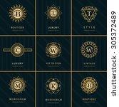 monogram design elements ... | Shutterstock .eps vector #305372489