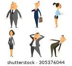 vector illustration of six... | Shutterstock .eps vector #305376044