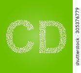 pearl alphabet letters cd | Shutterstock . vector #305376779
