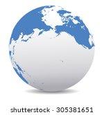 pacific rim north america ... | Shutterstock .eps vector #305381651