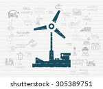 manufacuring concept  painted... | Shutterstock . vector #305389751