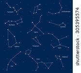constellations  cassiopeia  big ... | Shutterstock .eps vector #305395574