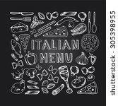 restaurant cafe italian menu....   Shutterstock .eps vector #305398955