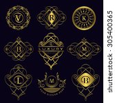 monogram design elements ... | Shutterstock .eps vector #305400365
