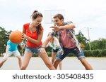 summer vacation  sport  games... | Shutterstock . vector #305408435