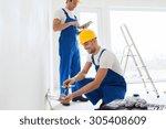 building  renovation ... | Shutterstock . vector #305408609