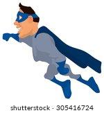 fun superhero   Shutterstock . vector #305416724