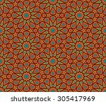abstract geometric colorful... | Shutterstock .eps vector #305417969
