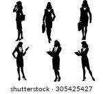 vector illustration of a six...   Shutterstock .eps vector #305425427