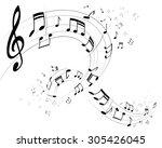 vector illustration of a notes... | Shutterstock .eps vector #305426045
