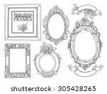 set of vector hand drawn... | Shutterstock .eps vector #305428265