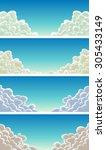 cloudscape set on blue sky... | Shutterstock .eps vector #305433149