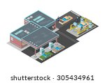 a vector illustration of a... | Shutterstock .eps vector #305434961