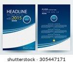 abstract vector modern flyer ... | Shutterstock .eps vector #305447171