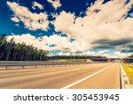 intersections suburban highway. ... | Shutterstock . vector #305453945