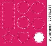 floral vector frame   Shutterstock .eps vector #305461559