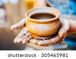 pottery craft ceramic clay in... | Shutterstock . vector #305465981