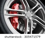 Car Wheel And Brake System. Re...