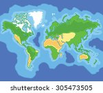 cartoon map of the world | Shutterstock .eps vector #305473505
